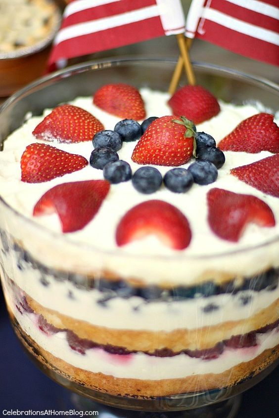 Trifles 4th of july desserts and red on pinterest for 4th of july dessert recipes with pictures