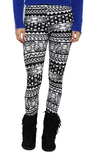 Black and White Tribal Print Legging - LOVE THEM! I just bought a pair :)