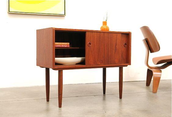 1960s Danish Modern Teak Micro Credenza