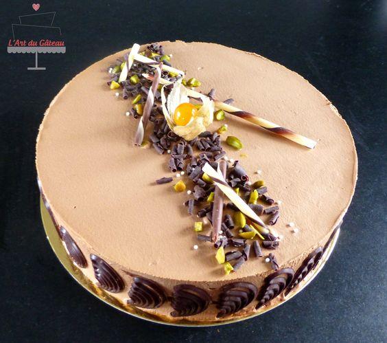 Entremet chocolat pistache