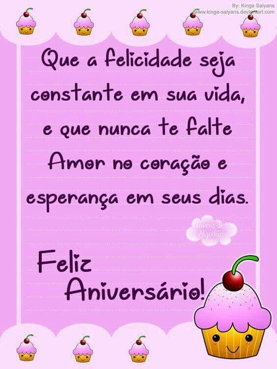 Que a felicidade seja constante em sua vida, feliz aniversário