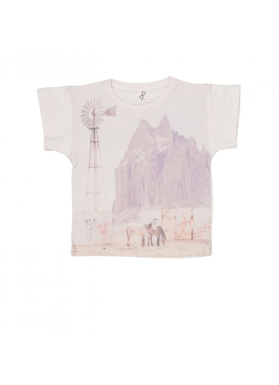 Organic Loose Tee / Desert Print - SALE ITEMS - Products : Fawn Shoppe - Global Boutique For Unique Children's Designs