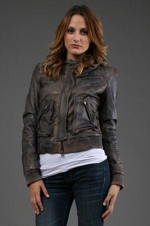 The Smriti Leather Jacket by Muu Baa at CoutureCandy.com