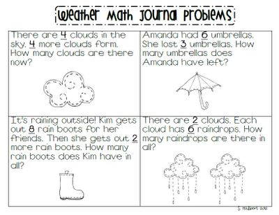 Learning with a Happy Heart: Math Journal Monday (Weather Word ...
