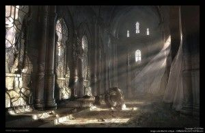 Looking for a novel about an ancient civilisation? This decayed ruins is similar to the Throughnight Cathedral Mansion in the Omega Children - the Return of the Marauders