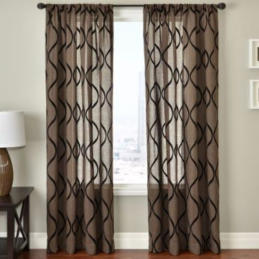 Charming Brown And White Curtain Panels   Curtains Design Gallery