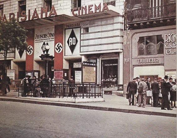 """Occupied Paris: The """"Parisiana"""" theater taken over by the Nazis for the entertainment of troops."""
