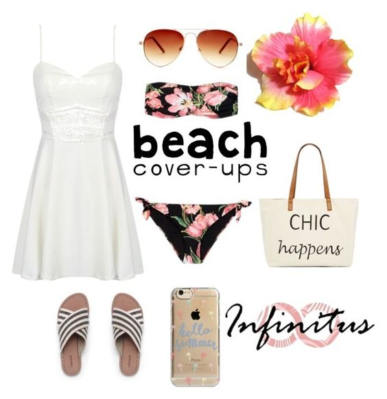 """""""Maui"""" by gopsl17 ❤ liked on Polyvore featuring Straw Studios, Lands' End, Dolce&Gabbana, Agent 18 and Steve Madden"""