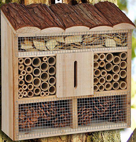 Insektenhotel Insektenhaus Nistkasten Bienen Brutkasten Insekten Holz
