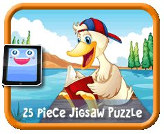 Duck Reading Online jigsaw puzzle for kids