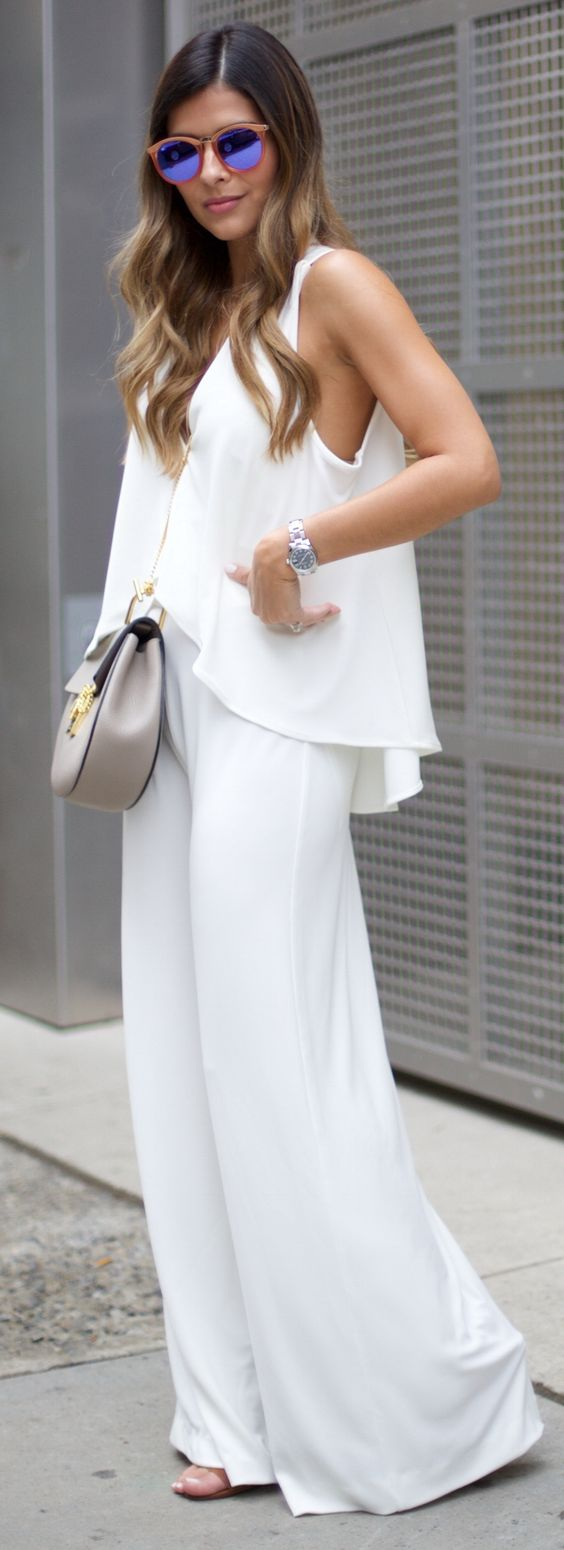 Nasty Gal Jumpsuit | Chloé Drew Bag | Le Specs Sunglasses