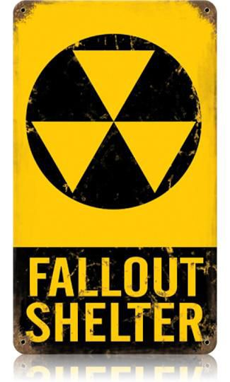Military Man Cave Signs : Fallout shelter vintage metal sign man cave