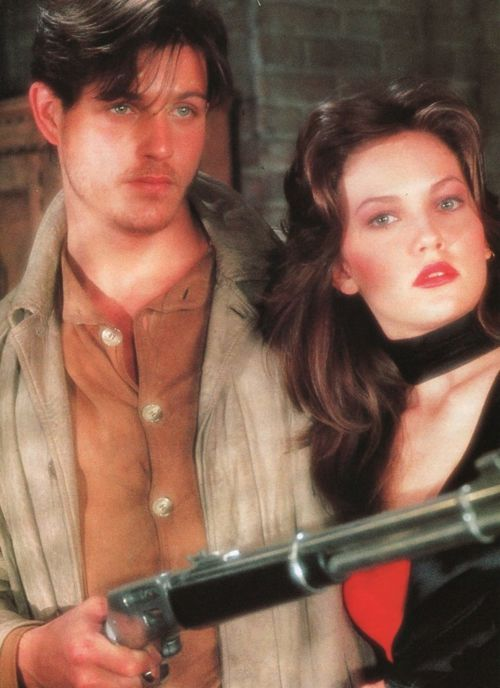 """""""Streets of Fire"""" - Ruas de Fogo, 1984 by Walter Hill (Diane Lane - so young -, Michael Paré, Willem Dafoe - amazing as usual)  http://pt.wikipedia.org/wiki/Streets_of_Fire (i f###ing love this movie! pinned an commented by Carolina: Completely Agreed! Thx!)"""