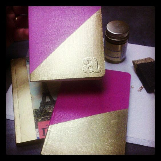 DIY did it: gilded notepads