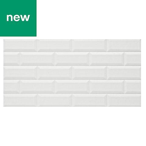 Millennium White Brick Effect Ceramic Wall Tile Pack Of 6 L 600mm W 300mm Ceramic Wall Tiles Wall Tiles White Brick