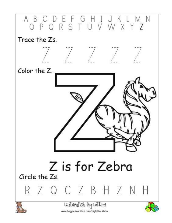 Alphabet Worksheets for Preschoolers | Alphabet Worksheet Big ...