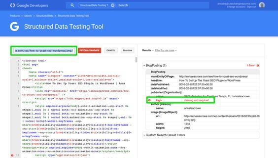 Google AMP Schema Markup Validation | SEJ