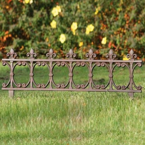Bordure de jardin grand mod le en fonte lys clotures for Bordure de jardin en palette