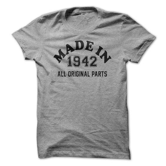 MADE IN 1942 - ALL ORIGIN... #Aged #Tshirt #year