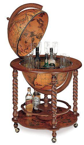 "Bar Globe Drinks Cabinet 20"" Italian BNIB Globe Bar | eBay"