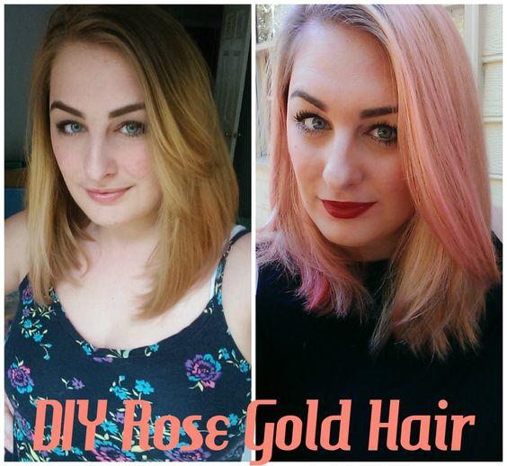 Hair DIY: Rose Gold Hair at Home