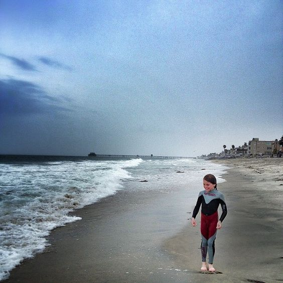 .@dominiccooley (Dominic Cooley) ' Nolan, winter suit wearing year around. He's a fish. Oceanside, beach, tide, shore play