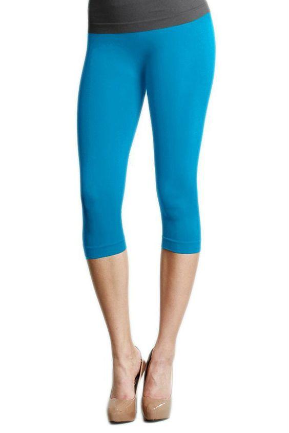 Turquoise Capri Leggings