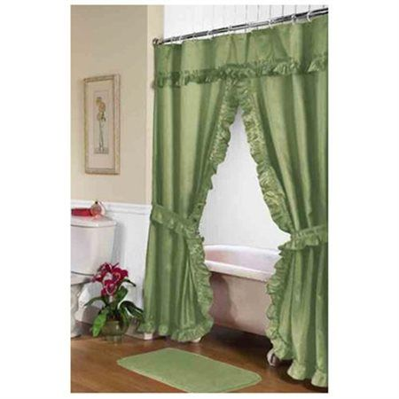 Inchlaureninch Double Swag Shower Curtain Sage Size 70 Inch