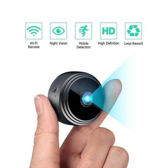 Kabellose Uberwachungskamera Mit Wlan Und Nachtsicht Sensori In 2020 Wifi Kamera Uberwachungskamera Wlan