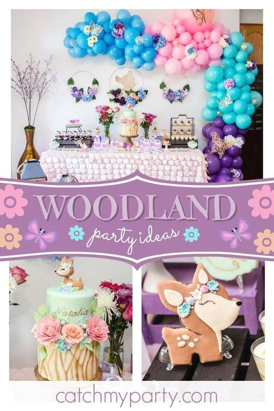 These Are The Most Popular Girl Birthday Party Themes For 2020 Catch My Party Woodland Birthday Party Girls Birthday Party Themes Birthday Party Themes