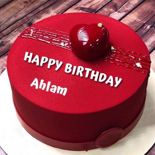 Happy Birthday Wishes Elegant Red Heart Cake With Name Cake Name Birthday Wishes For Lover Birthday Wishes Cake