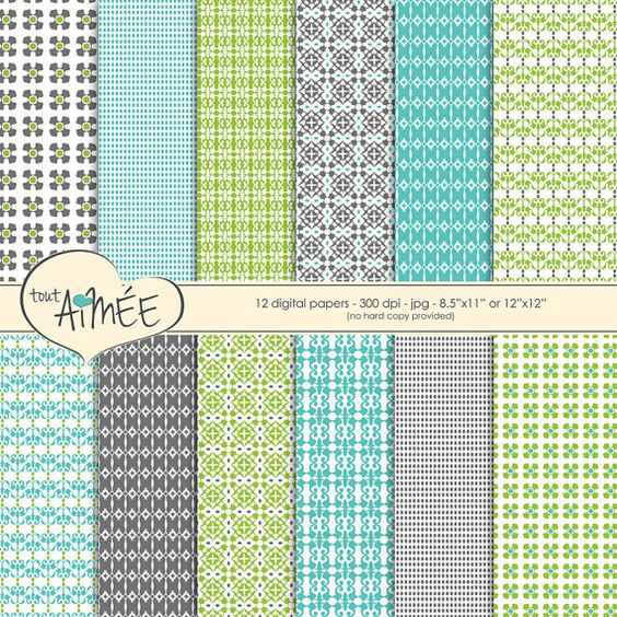 Ethnic Inspired Digital Scrapbook Paper Printable by ToutAimee $6.39