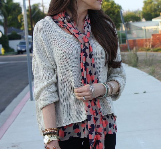 this blouse + this sweater = heavenly.