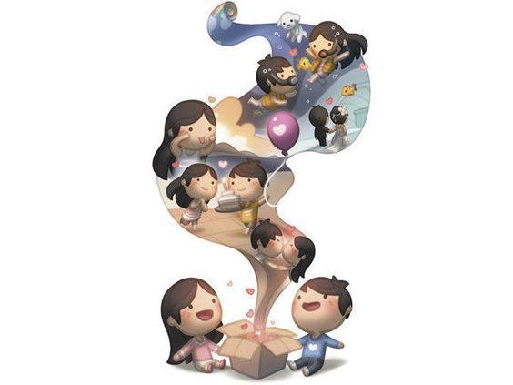 Andrew Hou, un ilustrador chino, hizo estas ilustraciones como regalo de cumpleaños para su esposa Kate. En ellas dibujó todo lo que no puede decir con palabras, pero sí a través del arte. El amor es...
