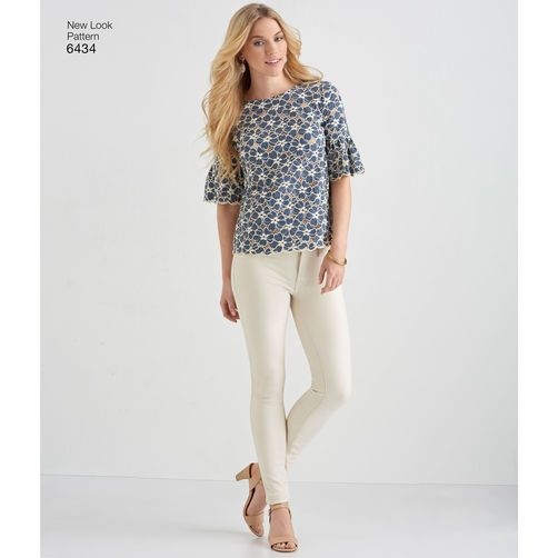 New Look Pattern 6434 Misses' Tops with Fabric Variations