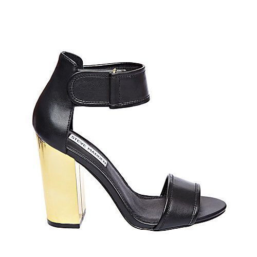 INSINK BLACK women's dress high ankle strap - Steve Madden ...
