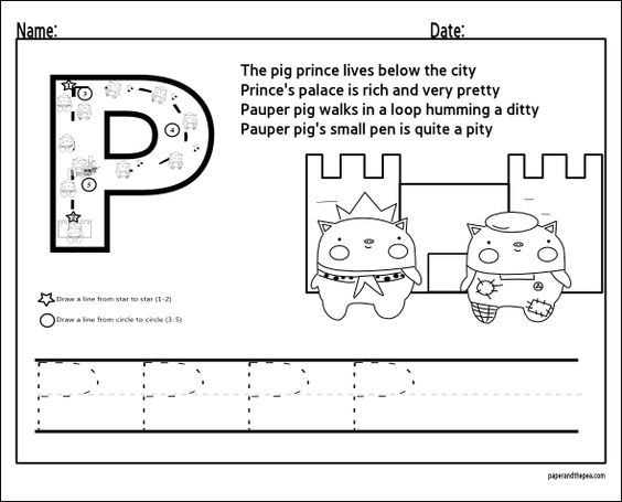 Number Names Worksheets trace abc letters : Alphabet Letters to Trace   Letter P   Learning / ABC, Counting ...