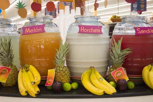 Aguas frescas… Melon, Horchata, Sandia!