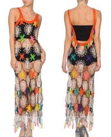 vestido de crochê de Gaultier