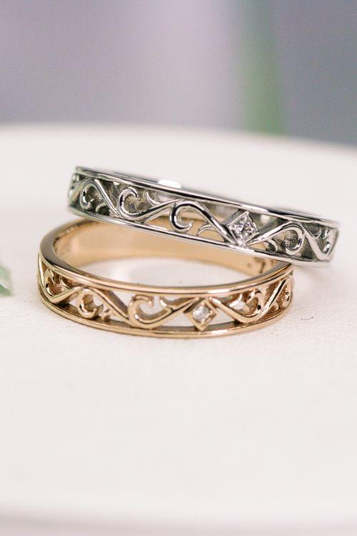 Arabesque Ring ピンクゴールド プラチナ