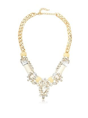 Leslie Danzis Crystal Fan Station Necklace