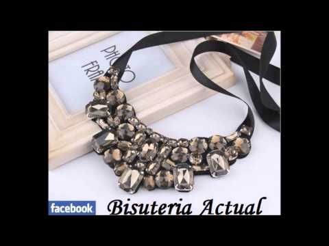 M Bisuteria Actual collares colgantes necklace collana collier babero maxi bib - YouTube