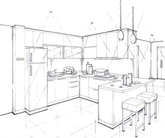 interior design drawing programs - Perspective drawing, Perspective and Drawings on Pinterest
