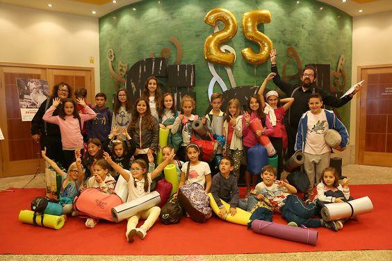 Os rapaces e rapazas do #Fiotiño, o programa do #FIOT25 para os máis cativos.