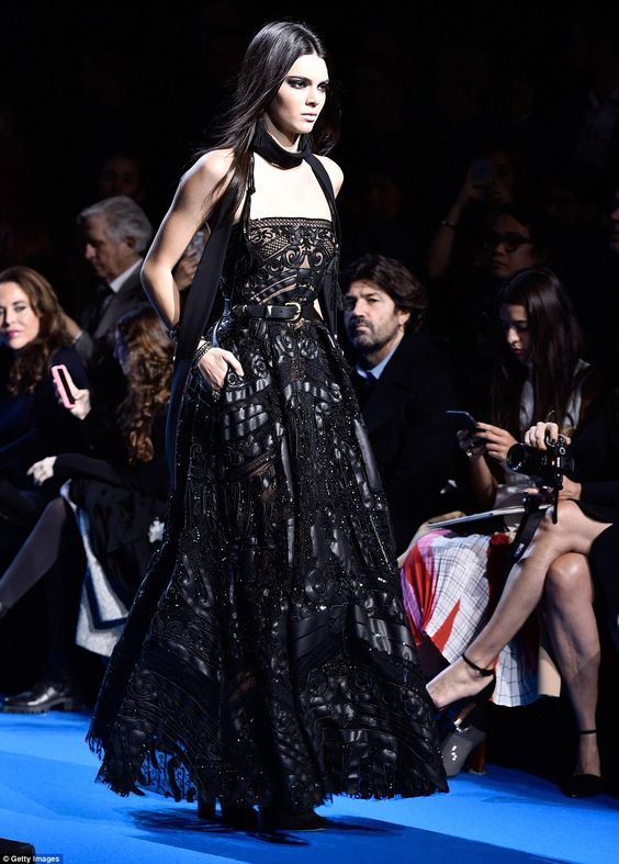Making an entrance: The newest recruit to the Victoria's Secret roster glided down the blu...