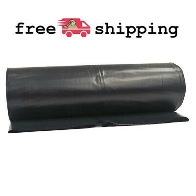 Black Plastic Sheeting Roll Painting Barrier Cover Haunted House Tarp 10x100 Ft In 2020 Black Plastic Sheeting Tarps Haunting