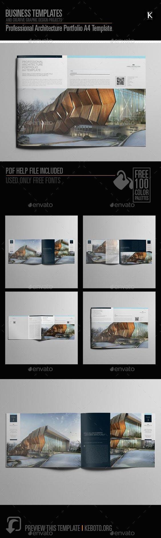Professional Architecture Portfolio A20 Template   Architecture ...