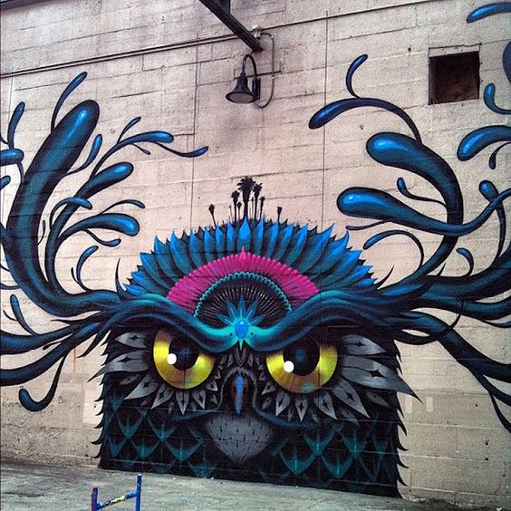 Another cool mural!  Susi M. via Susan Harris Repinned just now from OUTDOOR ART/STREET ART