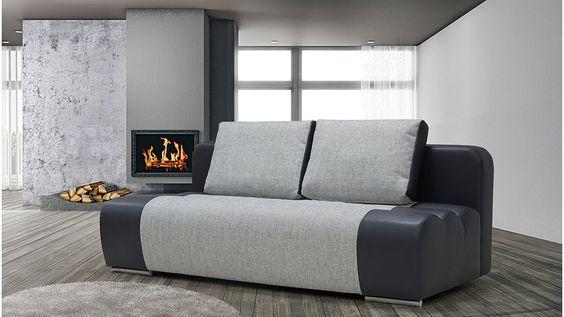 """Sofa """"Farin"""" mit Bettkasten #bed sofa #Wohnzimmer"""