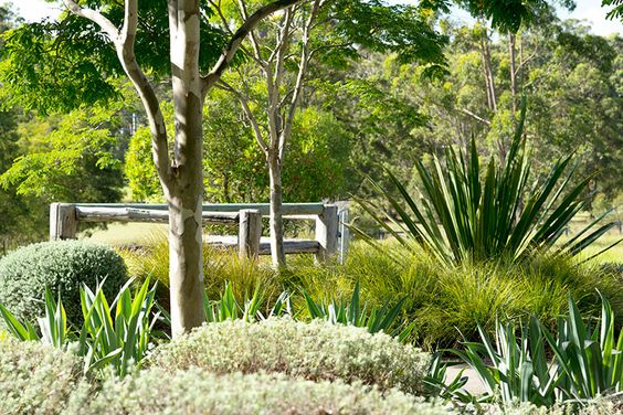 Native garden.This style would fit into your area beautifully.